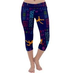 A Colorful Modern Illustration For Lovers Capri Yoga Leggings