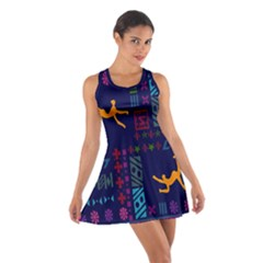 A Colorful Modern Illustration For Lovers Cotton Racerback Dress