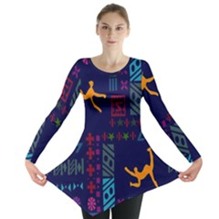 A Colorful Modern Illustration For Lovers Long Sleeve Tunic