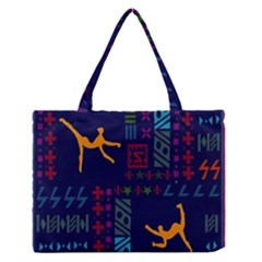 A Colorful Modern Illustration For Lovers Medium Zipper Tote Bag