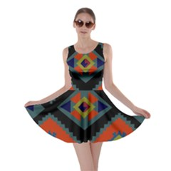Abstract A Colorful Modern Illustration Skater Dress