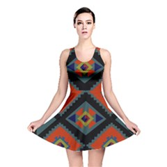 Abstract A Colorful Modern Illustration Reversible Skater Dress