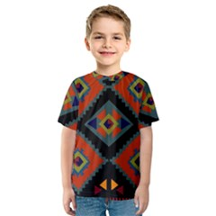 Abstract A Colorful Modern Illustration Kids  Sport Mesh Tee