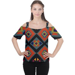 Abstract A Colorful Modern Illustration Women s Cutout Shoulder Tee