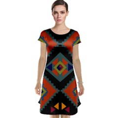 Abstract A Colorful Modern Illustration Cap Sleeve Nightdress