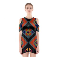 Abstract A Colorful Modern Illustration Shoulder Cutout One Piece