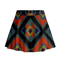 Abstract A Colorful Modern Illustration Mini Flare Skirt
