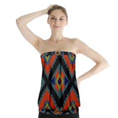 Abstract A Colorful Modern Illustration Strapless Top