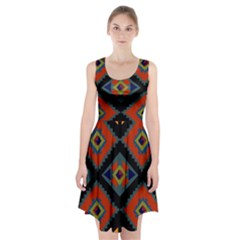 Abstract A Colorful Modern Illustration Racerback Midi Dress