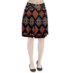 Abstract A Colorful Modern Illustration Pleated Skirt