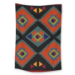 Abstract A Colorful Modern Illustration Large Tapestry