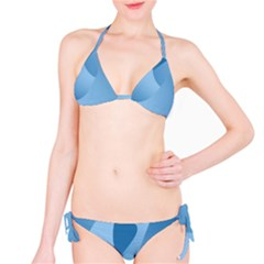 Abstract Blue Background Swirls Bikini Set