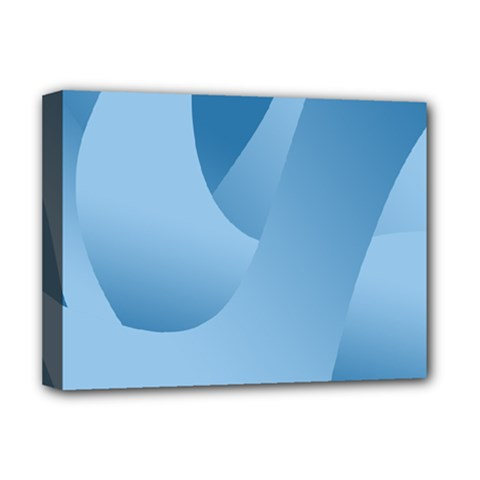 Abstract Blue Background Swirls Deluxe Canvas 16  x 12