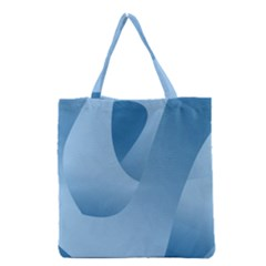 Abstract Blue Background Swirls Grocery Tote Bag