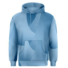 Abstract Blue Background Swirls Men s Pullover Hoodie