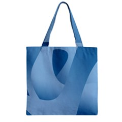 Abstract Blue Background Swirls Zipper Grocery Tote Bag