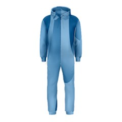Abstract Blue Background Swirls Hooded Jumpsuit (Kids)