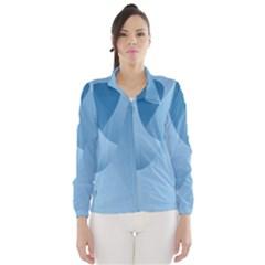 Abstract Blue Background Swirls Wind Breaker (women)