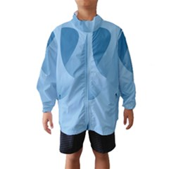 Abstract Blue Background Swirls Wind Breaker (kids)