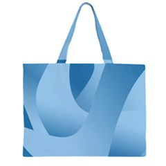 Abstract Blue Background Swirls Large Tote Bag