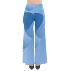 Abstract Blue Background Swirls Pants
