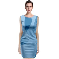 Abstract Blue Background Swirls Classic Sleeveless Midi Dress