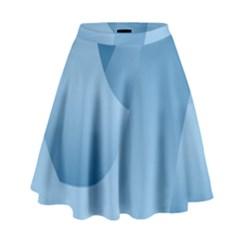 Abstract Blue Background Swirls High Waist Skirt
