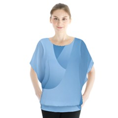 Abstract Blue Background Swirls Blouse