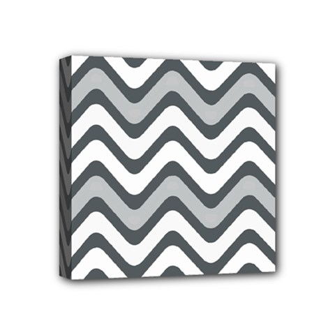 Shades Of Grey And White Wavy Lines Background Wallpaper Mini Canvas 4  x 4