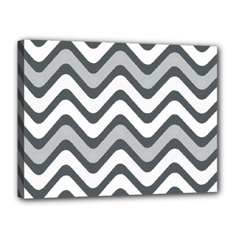 Shades Of Grey And White Wavy Lines Background Wallpaper Canvas 16  X 12