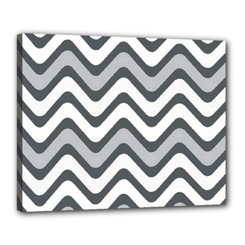 Shades Of Grey And White Wavy Lines Background Wallpaper Canvas 20  x 16