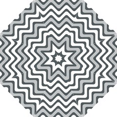 Shades Of Grey And White Wavy Lines Background Wallpaper Hook Handle Umbrellas (large)