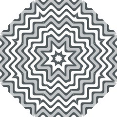 Shades Of Grey And White Wavy Lines Background Wallpaper Hook Handle Umbrellas (Small)