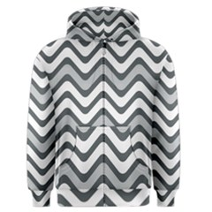 Shades Of Grey And White Wavy Lines Background Wallpaper Men s Zipper Hoodie