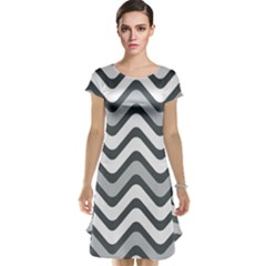 Shades Of Grey And White Wavy Lines Background Wallpaper Cap Sleeve Nightdress