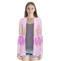 Pink Baby Love Text In Colorful Polka Dots Cardigans