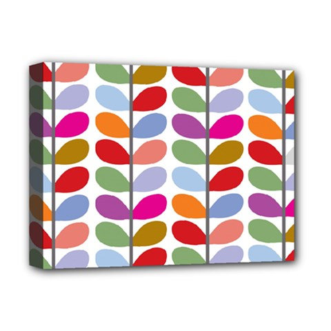 Colorful Bright Leaf Pattern Background Deluxe Canvas 16  X 12