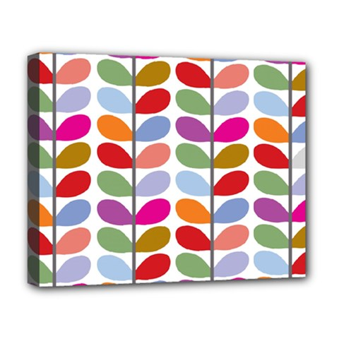 Colorful Bright Leaf Pattern Background Deluxe Canvas 20  X 16