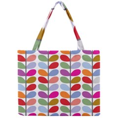Colorful Bright Leaf Pattern Background Mini Tote Bag