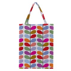 Colorful Bright Leaf Pattern Background Classic Tote Bag