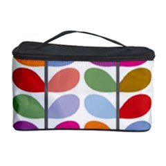 Colorful Bright Leaf Pattern Background Cosmetic Storage Case
