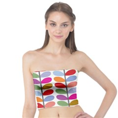 Colorful Bright Leaf Pattern Background Tube Top