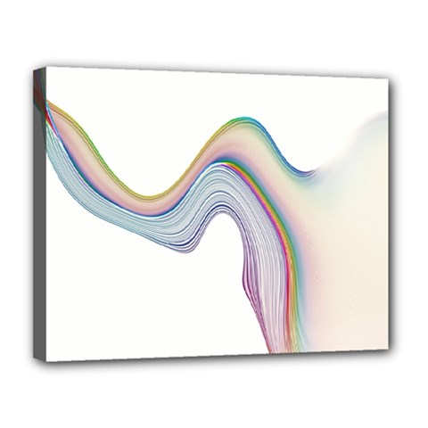 Abstract Ribbon Background Canvas 14  X 11