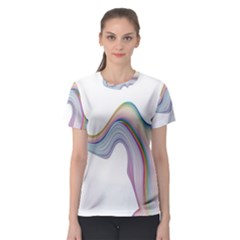 Abstract Ribbon Background Women s Sport Mesh Tee
