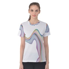 Abstract Ribbon Background Women s Cotton Tee