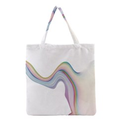 Abstract Ribbon Background Grocery Tote Bag