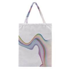 Abstract Ribbon Background Classic Tote Bag