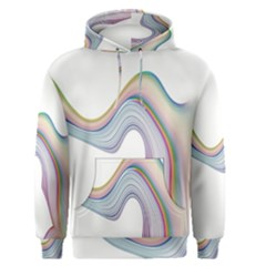 Abstract Ribbon Background Men s Pullover Hoodie