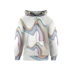 Abstract Ribbon Background Kids  Zipper Hoodie