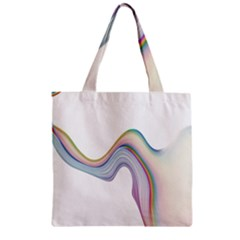 Abstract Ribbon Background Zipper Grocery Tote Bag